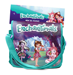 ENCHANTIMALS My Filled School Satchel Bag with 24pcs Creative Accessories, Red/Green