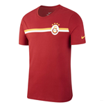 2018-2019 Galatasaray Nike Crest T-Shirt (Pepper Red)