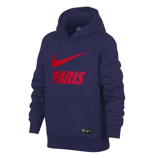 2018-2019 PSG Nike Core Hooded Top (Navy) - Kids