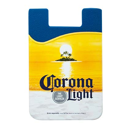 Corona Light Cellphone Rubber Sticky Mount Card Wallet