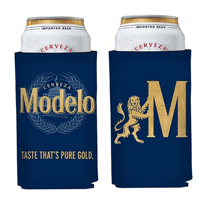Modelo Gold Logo Navy Can Cooler Insulator