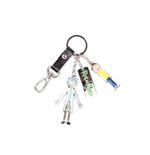 Rick and Morty Keychain - Characters And Logo Metal Multicolor