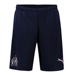 2018-2019 Olympique Marseille Puma Training Shorts (Peacot)