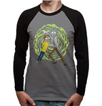 Rick And Morty - Spiral - Unisex Baseball Shirt Grey