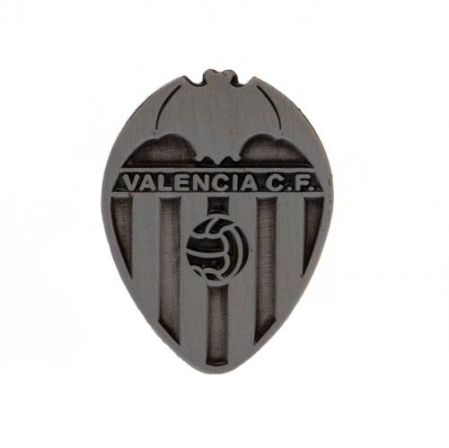 Valencia C.F. Badge Antique Silver