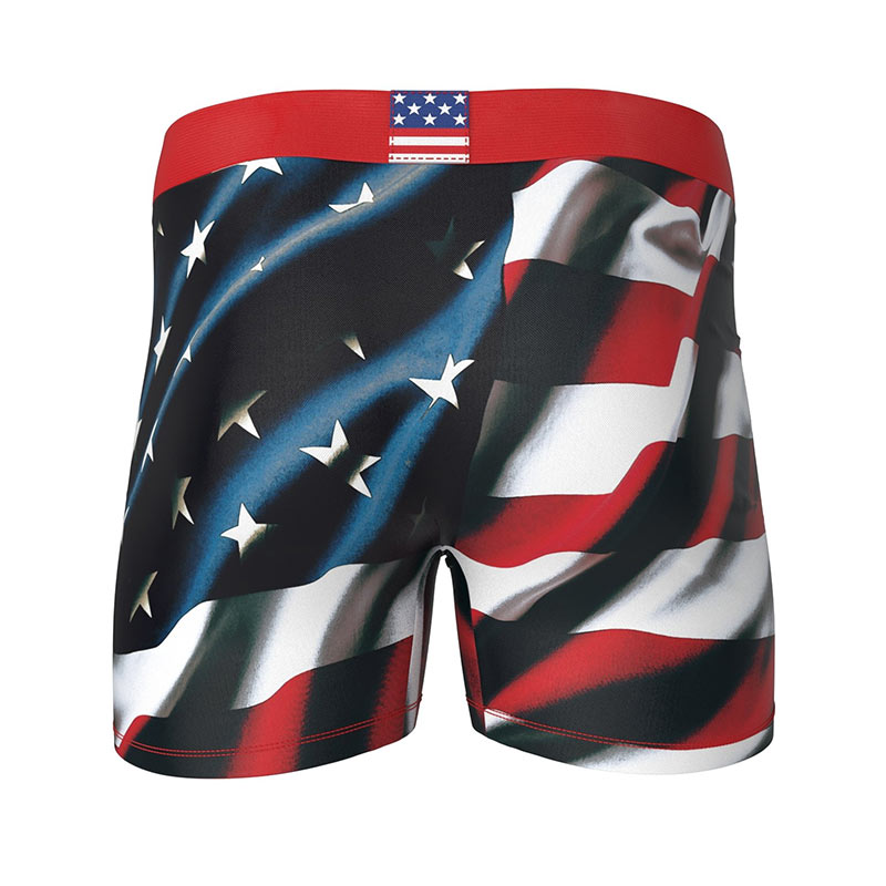 American and UK Flag Trunks for Men Boxer Briefs Mens Underwear