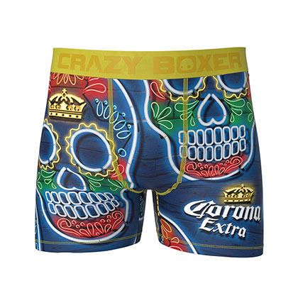 Corona Sugar Skull Men's Underwear Boxer Briefs