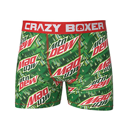 MOUNTAIN DEW Green Logo Men's Underwear Boxer Briefs