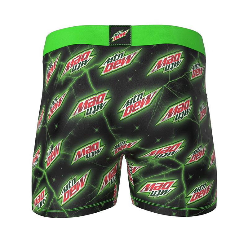 MOUNTAIN DEW Logos Black Men's Boxer Briefs Underwear