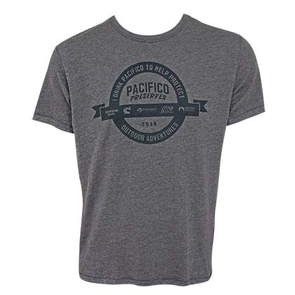 PACIFICO Preserves Adventures Men's Gray T-Shirt