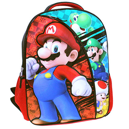 Super MARIO Bros 16 Inch School Backpack