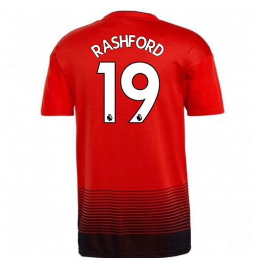 2018-2019 Man Utd Adidas Home Football Shirt (Rashford 19) - Kids