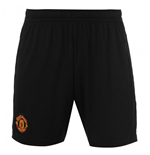 2018-2019 Man Utd Adidas Home Shorts (Black)