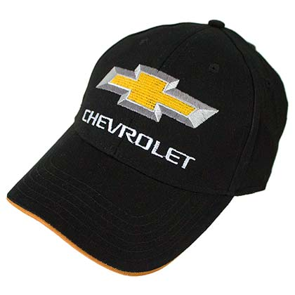 Chevrolet CHEVY Car Logo Black Yellow Men's Hat