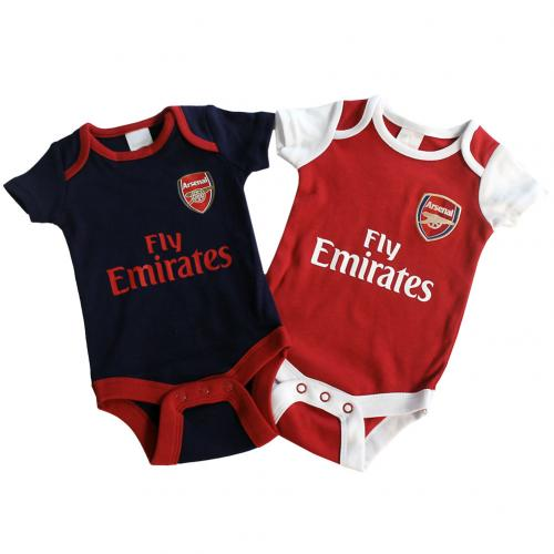 Arsenal F.C. 2 Pack Bodysuit 9/12 mths NR