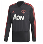 2018-2019 Man Utd Adidas Training Top (Black)