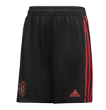 2018-2019 Man Utd Adidas Training Shorts (Black) - Kids
