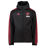 2018-2019 Man Utd Adidas Training Rain Jacket (Black)