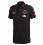 2018-2019 Man Utd Adidas Training Polo Shirt (Black)