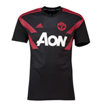 2018-2019 Man Utd Adidas Pre-Match Training Shirt (Black) - Kids