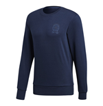 2018-2019 Man Utd Adidas Graphic Sweatshirt (Navy)