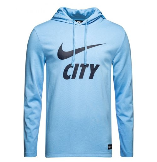 2018-2019 Man City Nike Core Hooded Top (Blue)