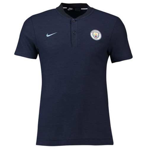 2018-2019 Man City Nike Authentic Grand Slam Polo Shirt (Obsidian)