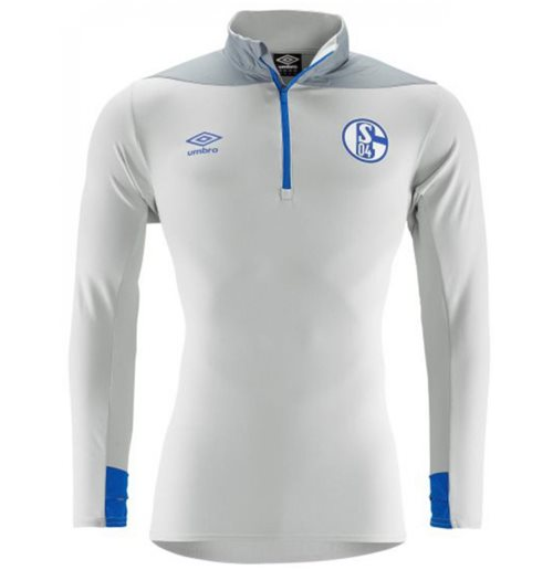 2018-2019 Schalke Umbro Half Zip Training Top (Grey)