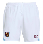 2018-2019 West Ham Home Football Shorts (White)