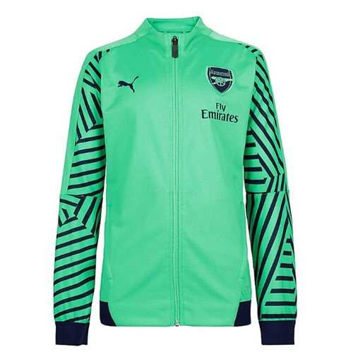 2018-2019 Arsenal Puma Stadium Jacket (Green)