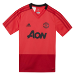 2018-2019 Man Utd Adidas Training Shirt (Pink) - Kids