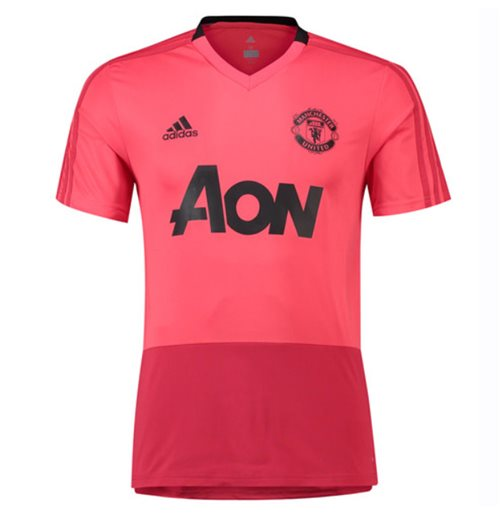 2018-2019 Man Utd Adidas Training Shirt (Pink)