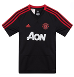 2018-2019 Man Utd Adidas Training Shirt (Black) - Kids
