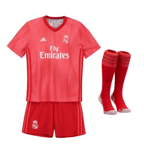 687abbcc4 buy official 2018-2019 real madrid adidas third full kit (kids)