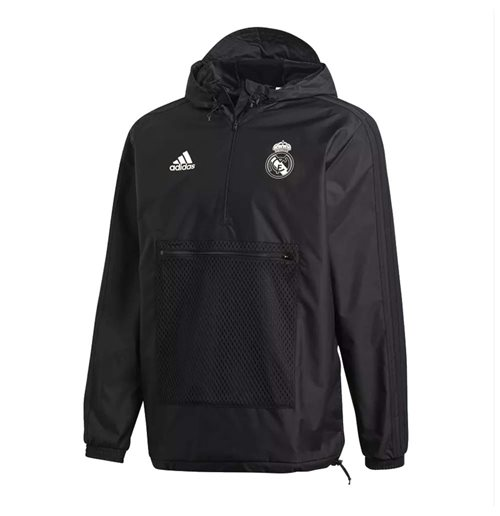 2018-2019 Real Madrid Adidas SSP Wind Jacket (Black)