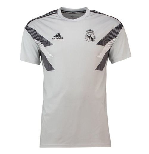 on sale 859ea a2246 2018-2019 Real Madrid Adidas Pre-match Training Shirt (Grey) - Kids