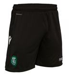 2018-2019 Sporting Lisbon Macron Home Shorts (Black)