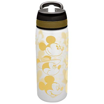 Mickey Mouse DISNEY Travel Gold 25oz Water Bottle