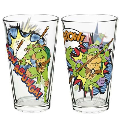c2814eb07c460 TEENAGE MUTANT NINJA TURTLES Pint Glass Set Of 2