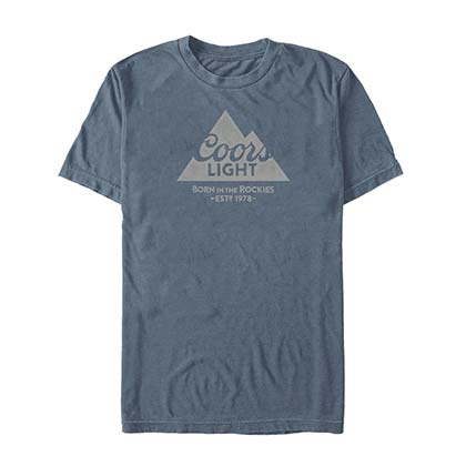 COORS Light Mountain 1978 Men's Blue T-Shirt