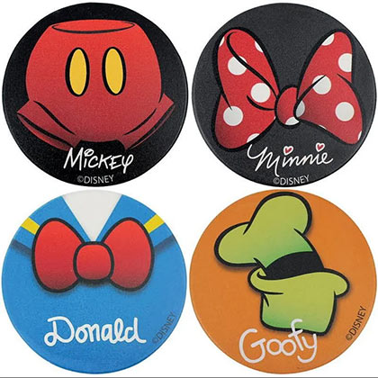 DISNEY Favorite Character Coasters 4-Pack