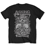Asking Alexandria Men's Tee: Skull Stack (Retail Pack)