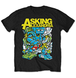 Asking Alexandria Men's Tee: Killer Robot (Retail Pack)