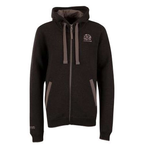 2018-2019 Scotland Macron Rugby Heavy Cotton Full Zip Hoody (Grey) - Kids