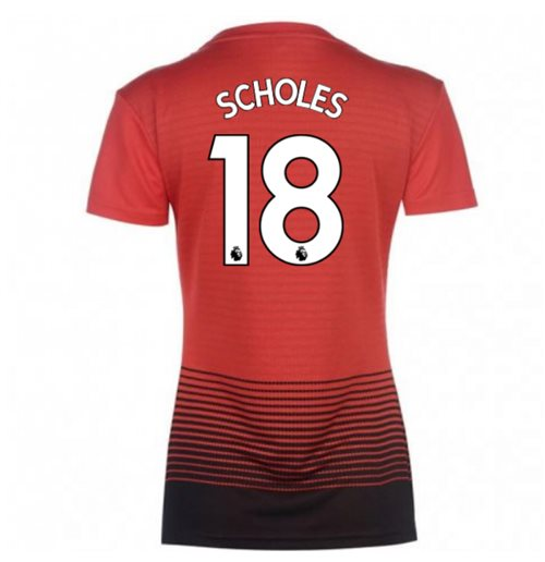 2018-2019 Man Utd Adidas Womens Home Shirt (Scholes 18)