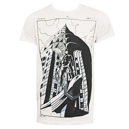 DAREDEVIL Comic Art Men's Off-White Tee Shirt