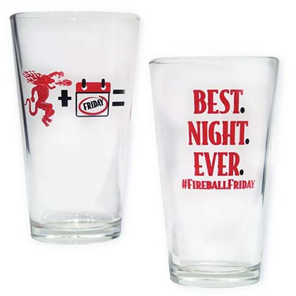 Fireball Cinnamon Whisky Friday Best Night Pint Glass