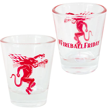 Fireball Cinnamon Whisky Friday Shotglass