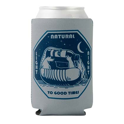 NATURAL LIGHT To Good Times Rowdy Gentleman Beer Cooler Insulator