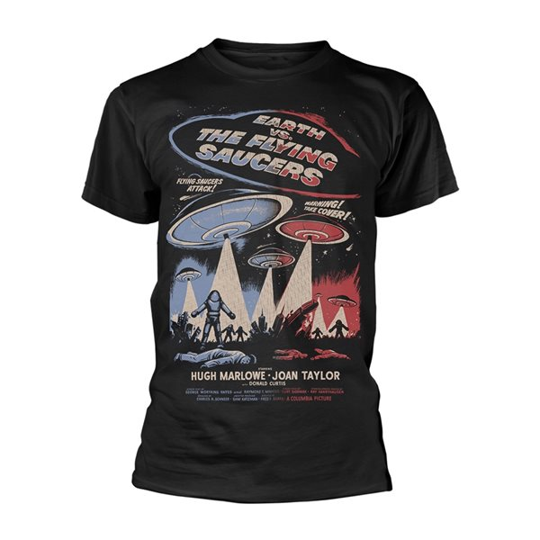 Plan 9 - Earth VS. The Flying Saucers T-shirt Earth VS. The Flying Saucers - Poster (BLACK)